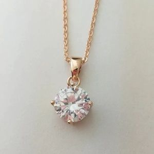 Jewelry - Australian CZ crystal on RoseGold delicate chain